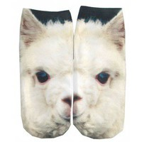LLAMA PHOTO ANKLE SOCKS