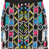 Aztec Embellished Mini Skirt