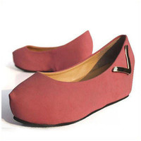 New Fashion Sweet Wedge Round Toe Red Sexy Casusl Lady Womens Shoes