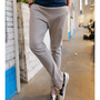 Grey Men Casual Slim Cotton Feet Pants M/L 1516SJ-K-24g