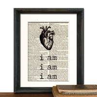 Sylvia Plath I am Art Print Picture Gift by QuaintandCurious