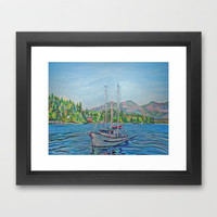 The Murrelet At Winter Harbour Framed Art Print by Morgan Ralston