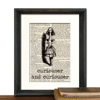 Alice in Wonderland Curiouser Art Print by QuaintandCurious