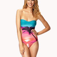 Sunset Graphic Monokini Forever 21
