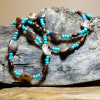 Hippie High Life Shell and Wood Beaded Necklace