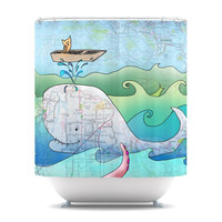 "Catherine Holcombe ""I'm on a Boat"" Shower Curtain 