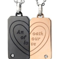 An oath of our love Necklace for Couple