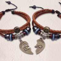 Handmade Couple Bracelets-LOVE YOU