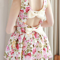 Nice Flower bowknot dress