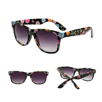 Floral Print Classic Sunglasses