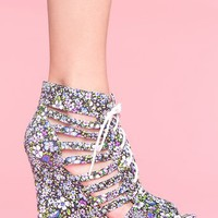 Carina Cutout Wedge in  Shoes at Nasty Gal