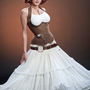 Meschantes Steampunk Distressed Vegan Leather Weskit Corset - $199