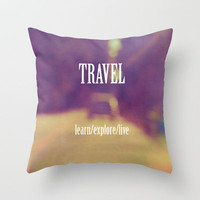 Travel  Throw Pillow by Rachel Burbee