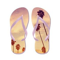 Endless Summer - Palm Tree Flip Flops> Flip Flops> cherokeerosemade