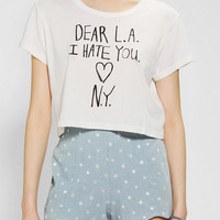 Urban Outfitters - Truly Madly Deeply Dear LA Cropped Tee