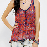 Ecote Chiffon Babydoll Tank Top
