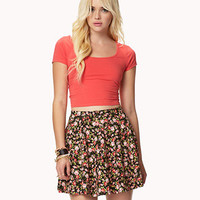Rosebud Skater Skirt | FOREVER 21 - 2037099130