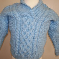 Toddler cable sweater