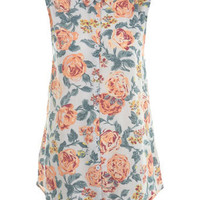 Floral Open Back Shirt - Tops - Apparel - Miss Selfridge US