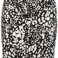 Misses Evan Picone Black & White Print Pencil Skirt