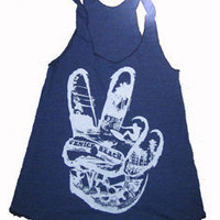 Hand Peace Sign Collage Art Print Tank Top by UnknownArtistApparel