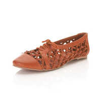 Entwine Orange Leather Flat - Shoes - Miss Selfridge US