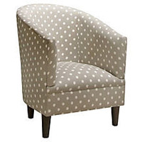 One Kings Lane - Sleeping Beauty - Collete Tub Chair, Gray/White