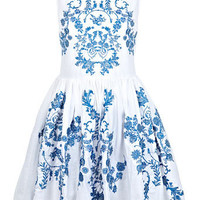 China Blue Embroidered Dress - View All  - Dress Shop