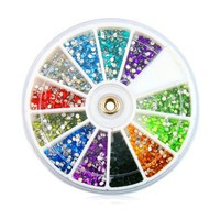 Rhinestones 1800 Pcs 12 Color Nai...
