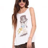 Live and Electric Open Back Tank - Clothes | GYPSY WARRIOR