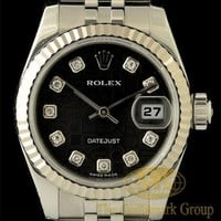 Excellent 18K White Gold &amp; S.S. Rolex Diamond Datejust Ladies Watch Ref. 179174