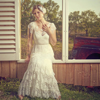Analise - Ruffled Lace Wedding Dress
