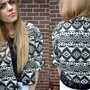 Vintage Black White Aztec Jacket