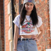 Aztec Jurassic Park 90s style Crop Top from Gone Retro