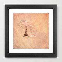 Vintage Paris is Always a Good Idea  Framed Art Print by secretgardenphotography [Nicola]