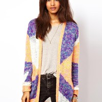 ASOS Edge To Edge Patterned Cardigan