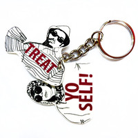 Parks and Recreation - Treat Yo Self Double Keychain