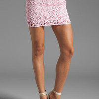 BB Dakota Sanford Lace Mini Skirt in Carnation from REVOLVEclothing.com