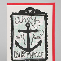 Ahoy Birthday Card