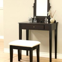 Frenchi Furniture Wood 3 Pc Vanity Se...