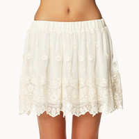 Embroidered Lace Skirt | FOREVER 21 - 2042408501