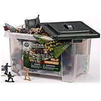 True Heroes Ultimate Military Playset- 100 piece set with storage container