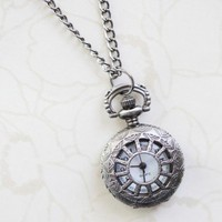 Vintage Times Clock Necklace | Modern Vintage Jewelry