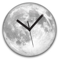 Kikkerland Design Inc   » Products  » Wall Clock + Glow In The Dark Moon