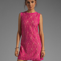 Joie Isette Color Lace Dress in Bright Fuchsia from REVOLVEclothing.com