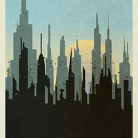 Coruscant Retro Travel Prints at AllPosters.com