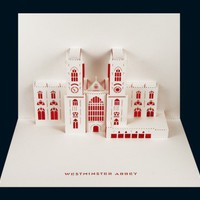 Westminster Abbey pop-up card from Paper Tango Limited | Made By Judy Robinson | £5.99 | Bouf