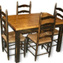 Primitive Country Table &amp; Four Ladderback Chairs | CountryFurniture - Furniture on ArtFire