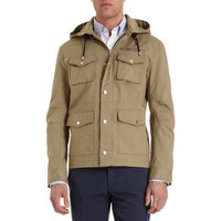 Michael Bastian Hooded Zip Front Utility Jacket at Barneys New York at Barneys.com
