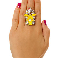 nOit Statement Ring Barbados Collection in Yellow